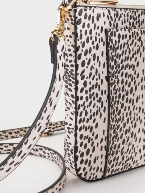 Animal print crossbody bag