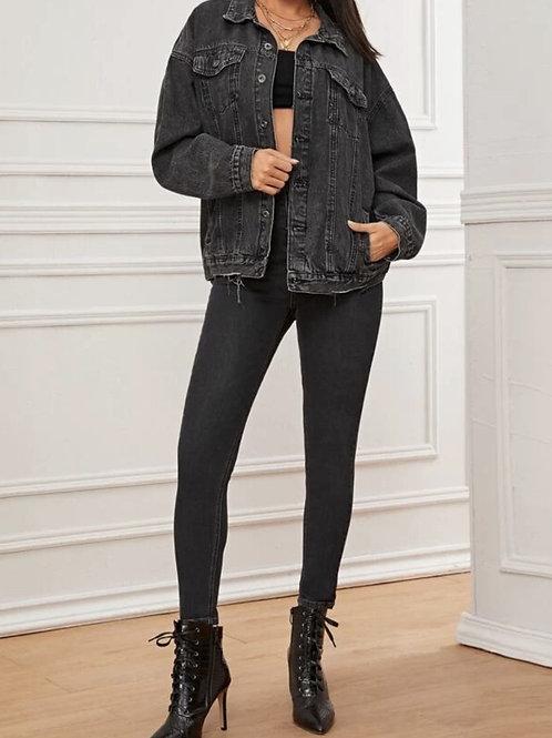 Dark grey demin jacket