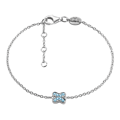 Silver Bracelet with Topaz