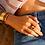 Thumbnail: Bangle Up Cuff 3cm Castelane Velver Red