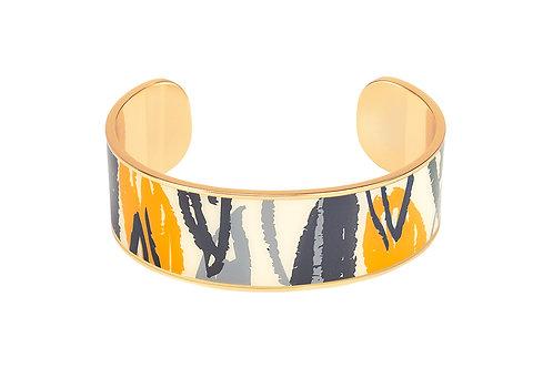Bangle Up Bracelet Flore 2cm Sand White & Saffron Yellow