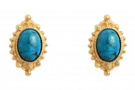 Dear Charlotte SatisTurquoise Earrings
