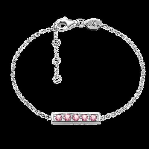 Silver Bracelet with Amethyst