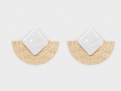 Gold-toned earrings