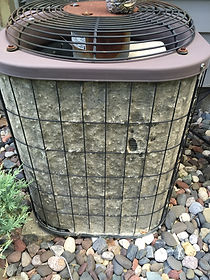 dirty A/C condensor