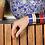 Thumbnail: BangleUp Bracelet 2cm Bollystud Delft Blue