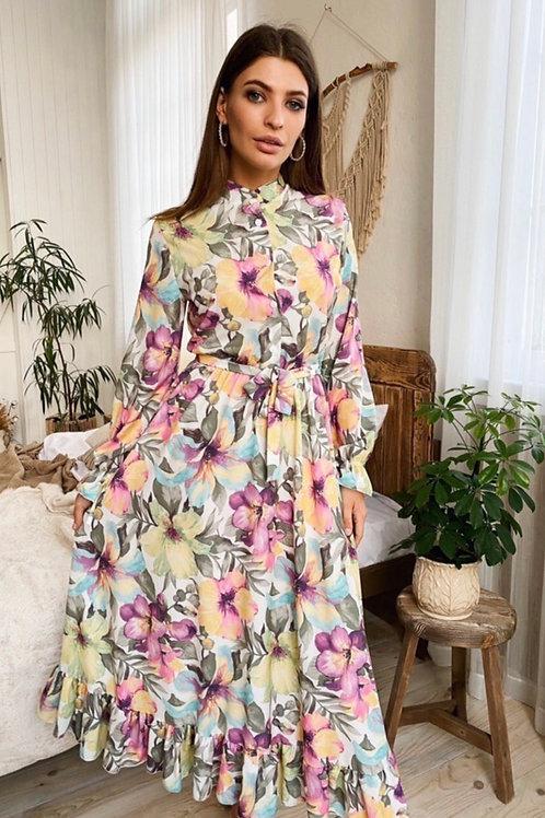 Lily Print Maxi Dress