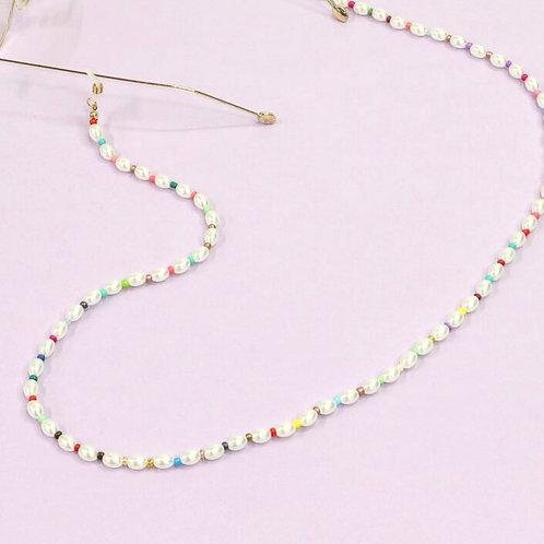 Faux Pearl Glasses Chain