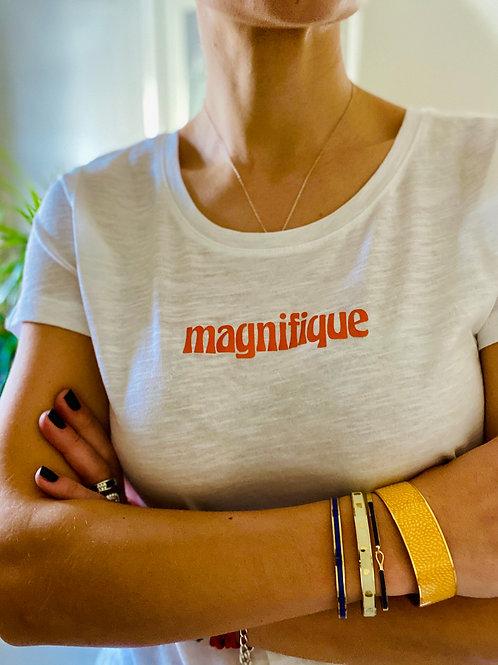 Magnifique White Organic Tshirt