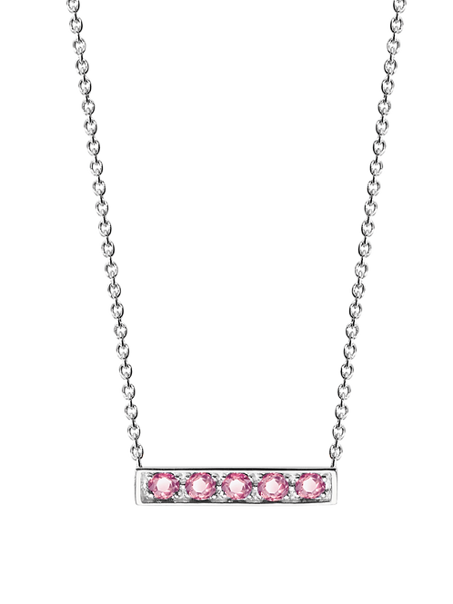 925 Silver Adjustable Stackable Chain Necklace with Tourmaline