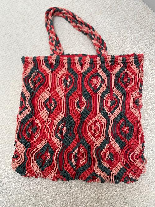 Handmade macrame Laurie tote handbag