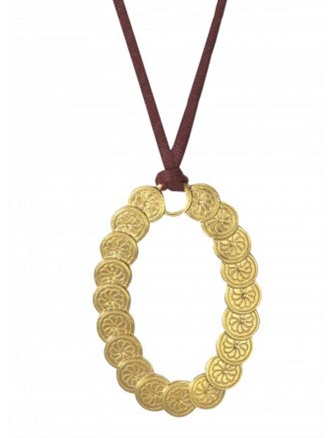 Dear Charlotte Vinci bordeaux leather long necklace