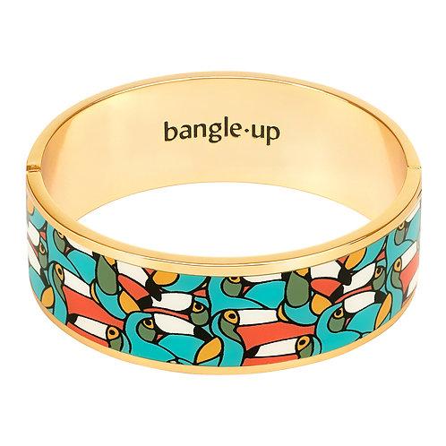 Bangle Up Jangala 2 cm bracelet Ceramic Blue ( size 1 and 2)