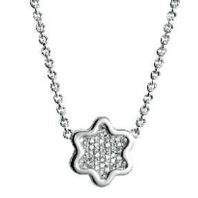 925 Silver Chain Necklace with CZ
