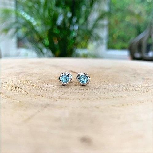 Silver Earrings with Topaz