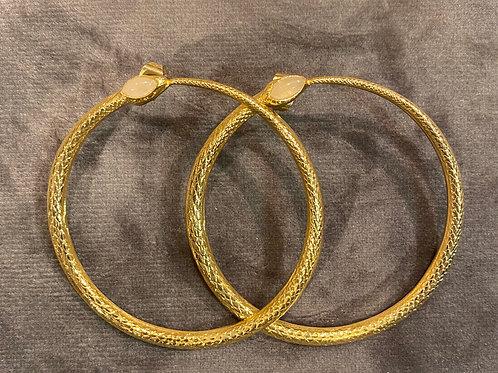 Snake earrings quartz