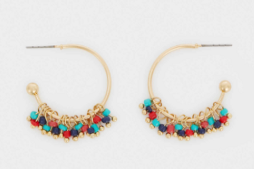 Small hoops with beads