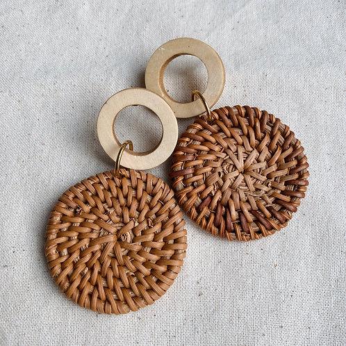Statement Straw Weave Earrings