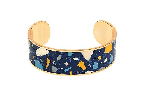 Bangle Up Bracelet Terazzo 2cm Night Blue