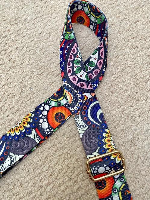 Floral adjustable handbag strap
