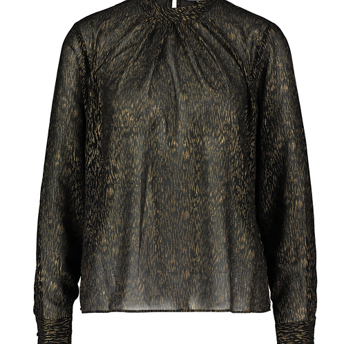 Neck blouse with gold