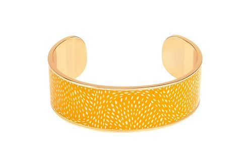 Bangle Up Bracelet Cosmos 2cm Saffron Yellow