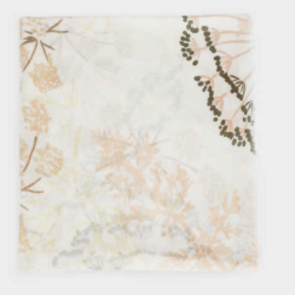 Pastel scarf with floral print