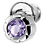 Thumbnail: Silver Earrings with Amethyst