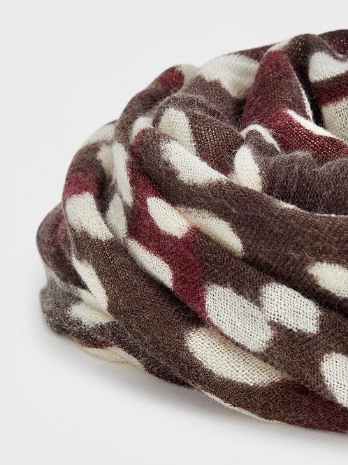 Burgundy printed scarf