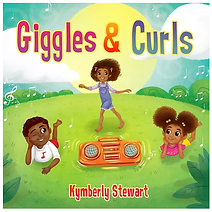 """Artwork for the music album """"Giggles and Curls"""" by Kymberly Stewart, streaming on WEE Nation Radio"""