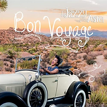 "Artwork for the music album ""Bon Voyage"" by Jazzy Ash, streaming on WEE Nation Radio"