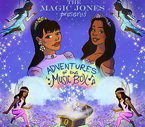 "Artwork for the music album ""Adventures of The Music Box"" by The Magic Jones, streaming on WEE Nation Radio"