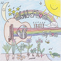 """Artwork for the music album """"World of Love"""" by City of Love, streaming on WEE Nation Radio"""