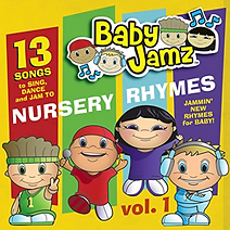 "Artwork for the music album ""Baby Jamz Presents Nursery Rhymes Vol.1"" by Various Artists, streaming on WEE Nation Radio"