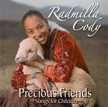 "Artwork for the music album ""Precious Friends - Songs for Children"" by Radmilla Cody, streaming on WEE Nation Radio"