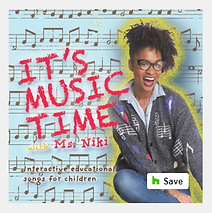 """Artwork for the music album """"It's Music Time with Ms. Niki"""" by Ms. Niki, streaming on WEE Nation Radio"""