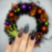 Smokey marble with black rainbow glitter