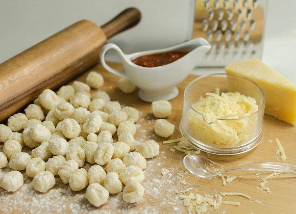 Menú 5 - Ñoquis, salsa y queso (3 personas)