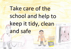 Take care of the school