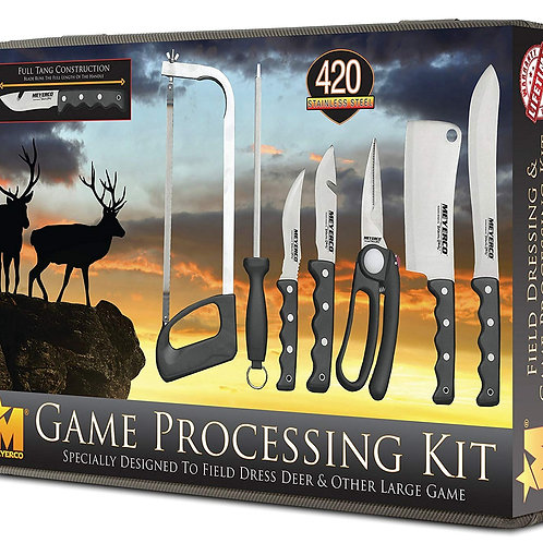 10-Piece Deer Processing Butcher Kit with Lifetime Warranty