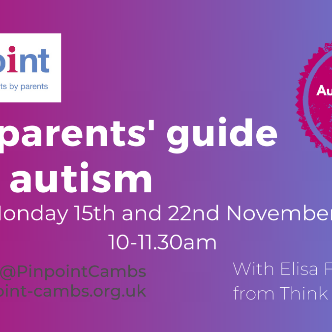 Beginners Guide to Autism for Parents (2 sessions)
