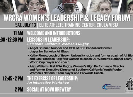 WRCRA Partners with USA Rugby on Leadership & Legacy Forum at Women's SuperSeries