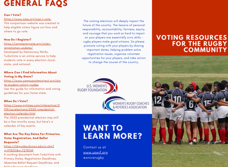 Rugby Players Make Good Citizens: How to Use the WRCRA Voter Toolkit to Create Change