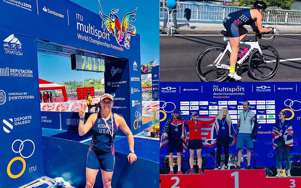Pam Kosanke at 2019 ITU World Triathlon Multisport Championships