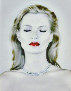 Kate Moss portrait by Chris Levine