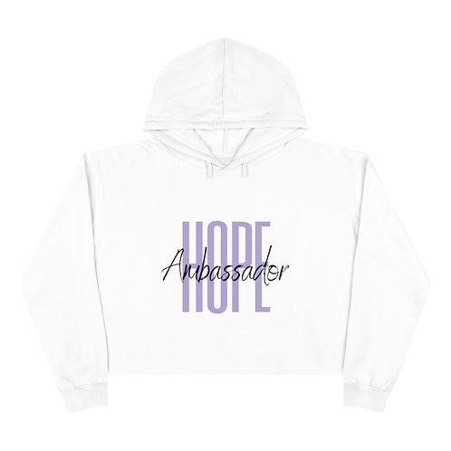 Purple Hope Ambassador Crop Hoodie