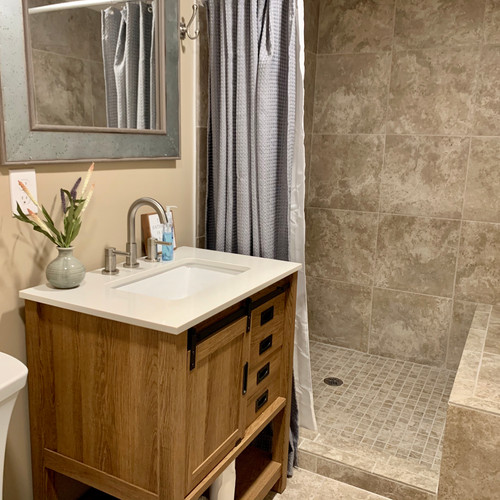 Stunning New Bathroom with a Gorgeous, Spacious Shower