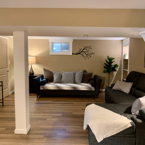 """Beautifully remodeled den with 43"""" TV, Laundry Room, and a pull out sofa bed and daybed for extra sleeping spaces"""