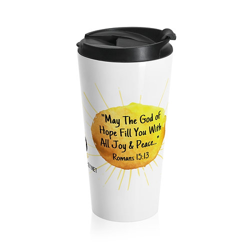Romans 15:13 Stainless Steel Travel Mug