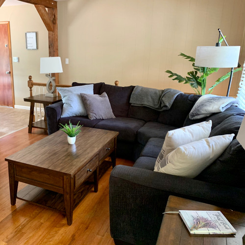 """Upstairs Living Room with 55"""" TV"""